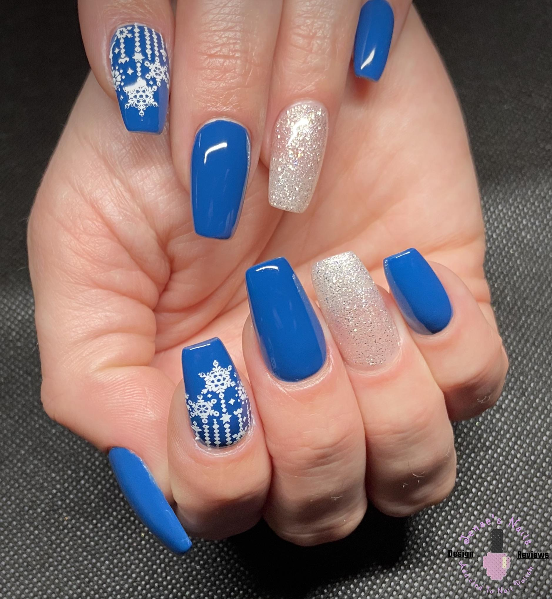 Blue Winter Nail Design