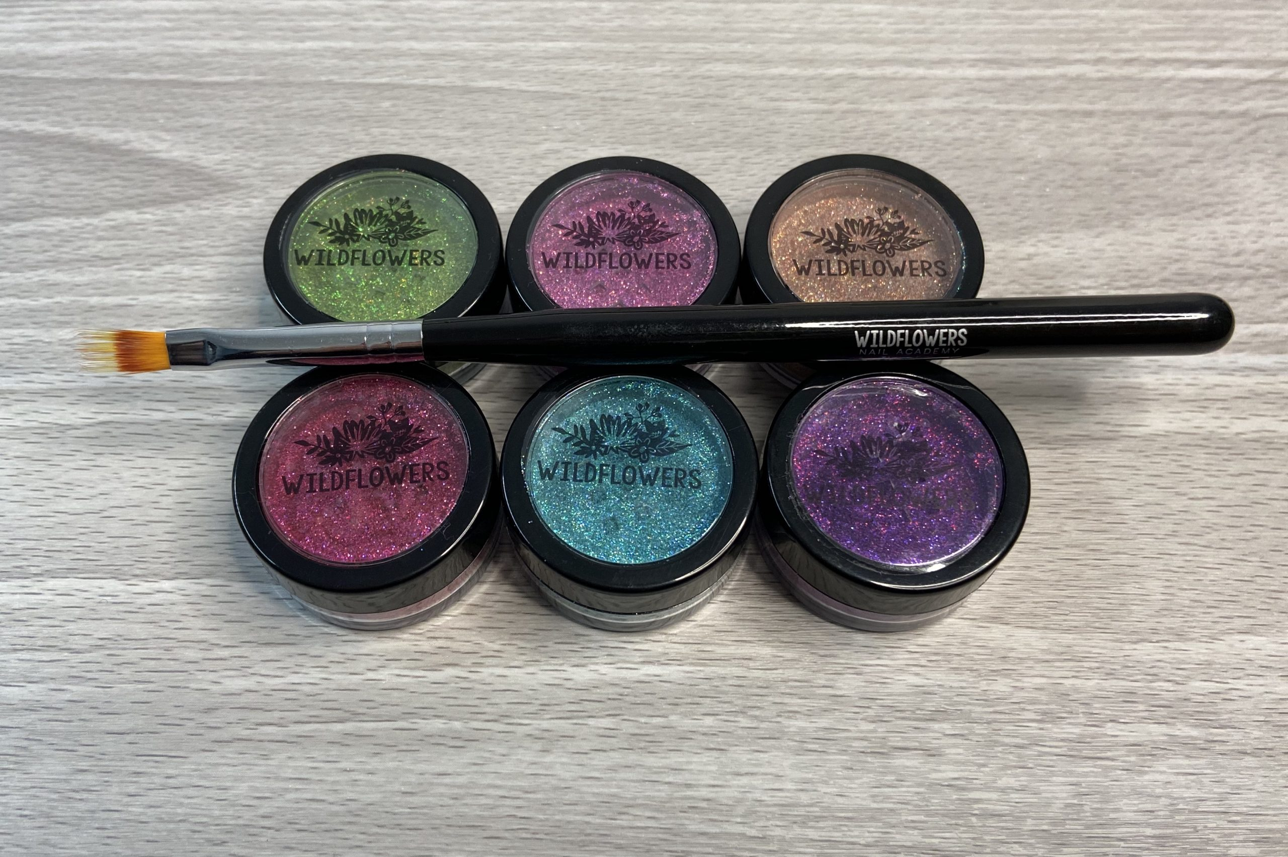 Wildflowers Glitters and Ombre Brush Review