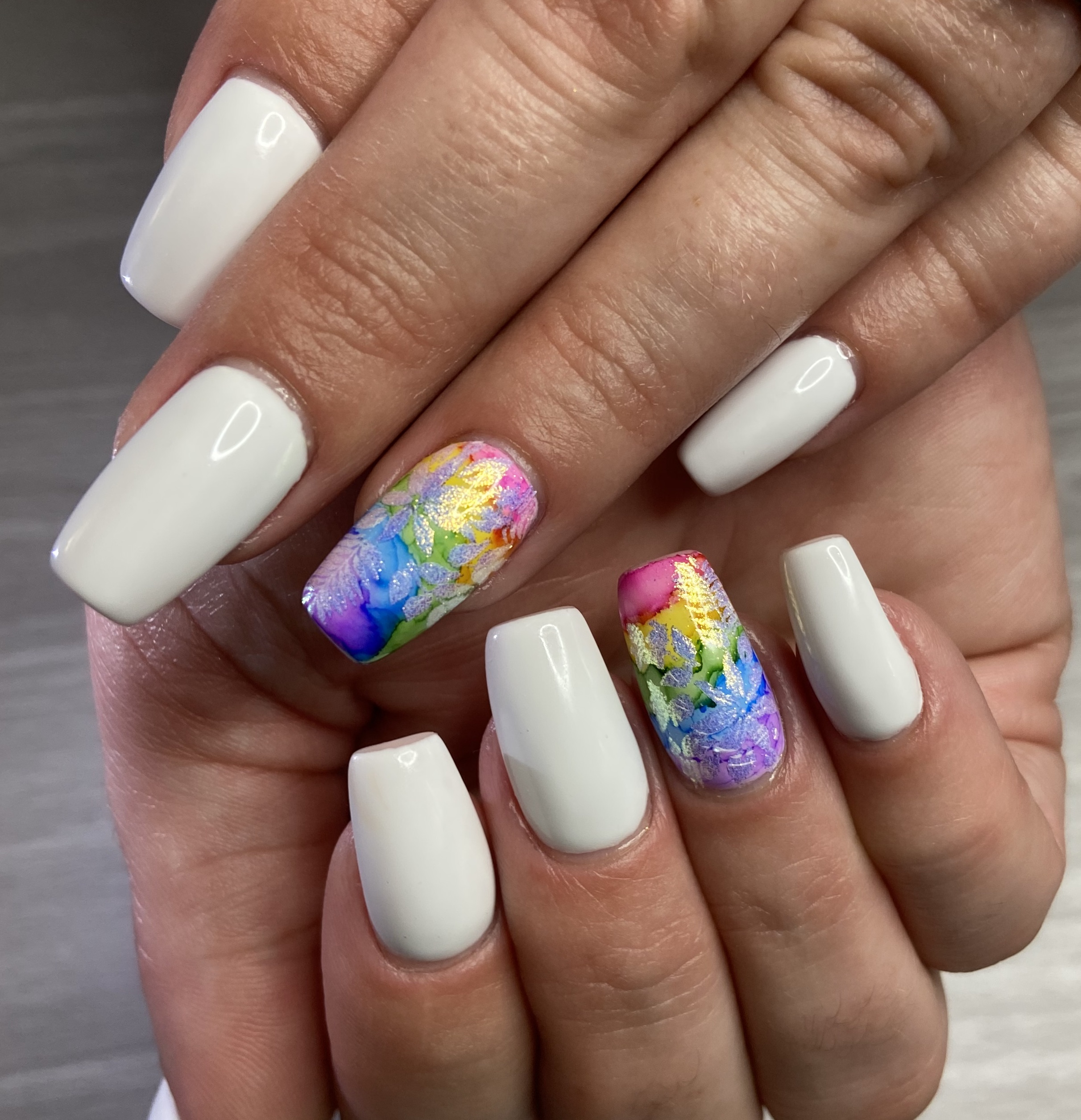 Colorful Ink Nails