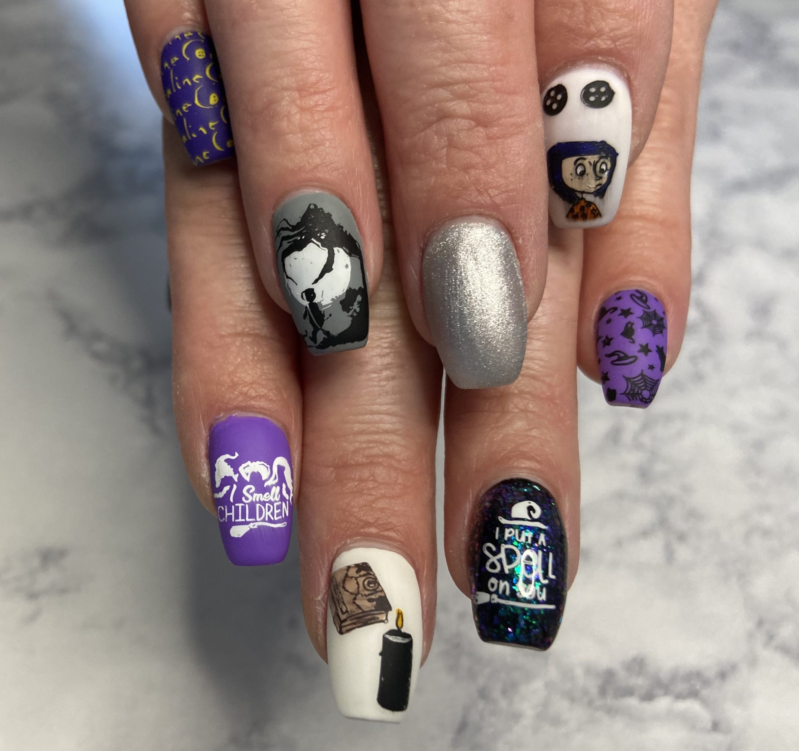 Halloween Movie Inspired Nails